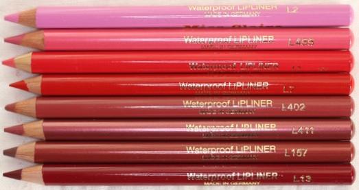 Профессиональные карандаши для губ Miss Claire (Германия)