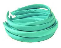 Основа для ободка (ободок) пластиковый атласный Мятный 1.5 см 5 шт/уп