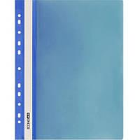 Скоросшиватели Economix 31508-02 синий А4 РР прозрачный верх, с перфорацией