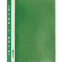 Скоросшиватели Economix 31508-04 зеленый А4 РР прозрачный верх, с перфорацией