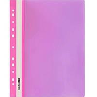 Скоросшиватели Economix 31508-09 розовый А4 РР прозрачный верх, с перфорацией