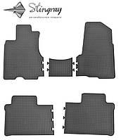 Honda CR-V  2002-2007 Комплект из 5-и ковриков Черный в салон. Доставка по всей Украине. Оплата при получении