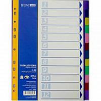 Разделители Economix 30808 микс 1-12 цифр, цветной