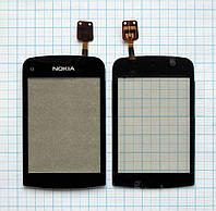 Тачскрин сенсорное стекло для Nokia C2-02/C2-03/C2-06 High Copy black