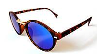 Солнцезащитные очки в пластиковой оправе, круглые, Toxic