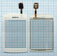 Тачскрин сенсорное стекло для Nokia C2-02/C2-03/C2-06 High Copy white
