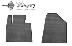 Hyundai Santa Fe 2013- Комплект из 2-х ковриков Черный в салон