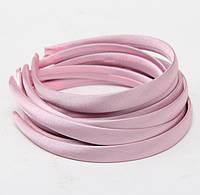 Основа для ободка (ободок) пластиковый атласный Розовый 1.5 см 5 шт/уп