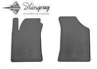 Kia Cerato  2004- Комплект из 2-х ковриков Черный в салон, фото 1