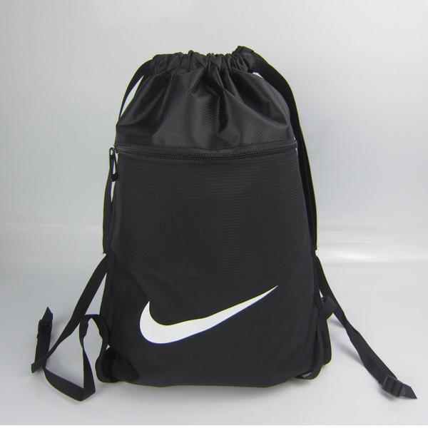 Рюкзак-мешок спортивный для обуви Nike черный  (реплика)
