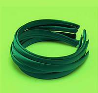 Основа для ободка (ободок) пластиковый атласный Изумрудный 1.5 см 5 шт/уп