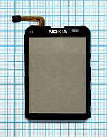 Тачскрин сенсорное стекло для Nokia C3-01 High Copy black