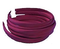 Основа для ободка (ободок) пластиковый атласный Бордовый 1.5 см 5 шт/уп