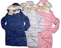 Куртка удлиненная  для девочек на меховой подкладке, размеры 8,10,16,лет,  GRACE,арт. G-60432