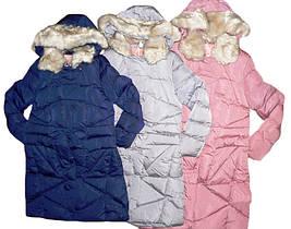 Куртка удлиненная  для девочек на меховой подкладке, размеры 16 лет,  GRACE,арт. G-60432