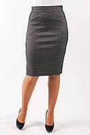 Молодежная женская юбка на байке серого цвета
