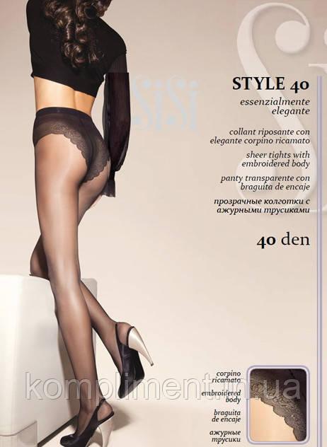Колготки с кружевными трусиками Sisi Style 40 den