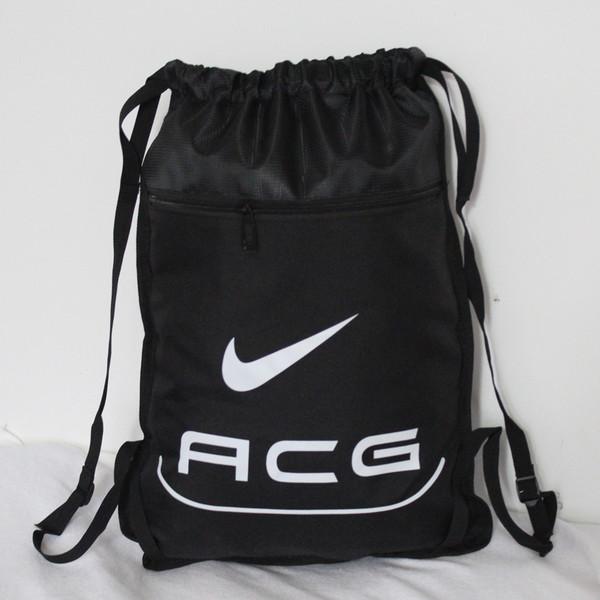 Рюкзак-мешок спортивный для обуви ACG черный (реплика)