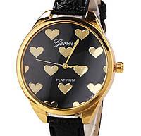 Часы Geneva hearts (black)