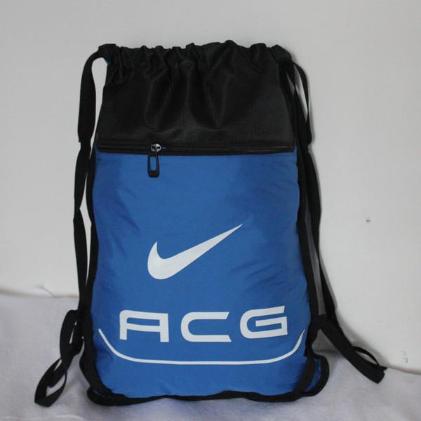 Рюкзак-мешок спортивный ACG голубой с черным (реплика)