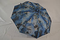 """Женский зонт полуавтомат абстракция от фирмы """"Lantana """" на 9 карбоновых спиц."""