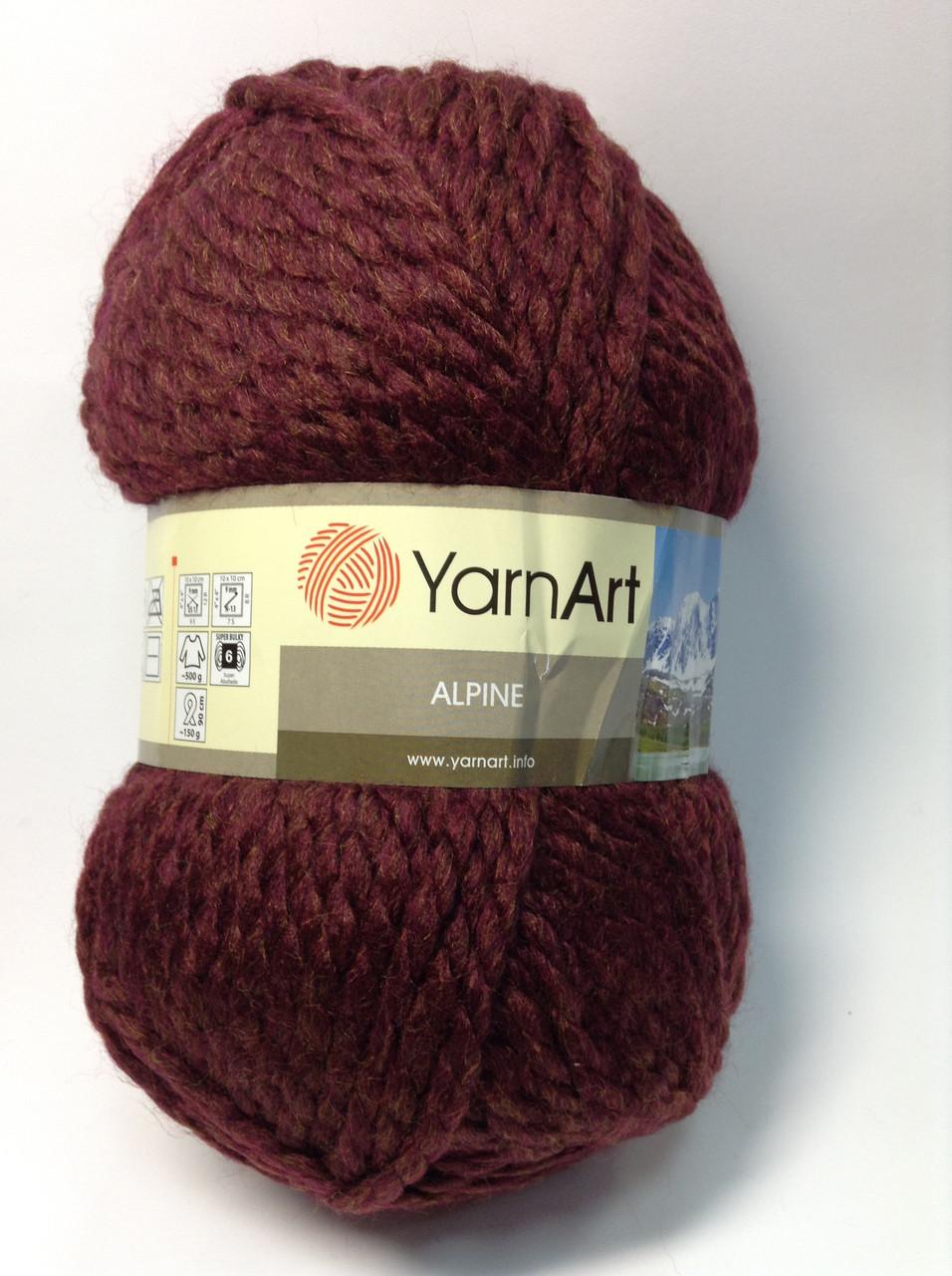 Пряжа alpine - цвет темно-бордовый