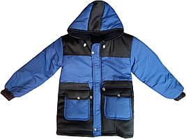 Теплая детская куртка на синтепоне, подкладка на флисе, для мальчиков 5-8 лет, Турция, оптом-