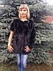 """Шуба-трансформер """"Шанель"""" из скандинавской норки окрашеной в тёмно-коричневый цвет 75 см"""