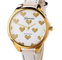 Часы Geneva hearts (white)