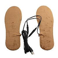 Стельки встелки теплые мужские USB питание коричневые, фото 1