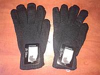 Мужские перчатки на начёсе Montage. Чёрные. , фото 1