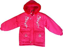 Теплая детская куртка на синтепоне, подкладка на флисе, для девочек 1-4 года, Турция, оптом