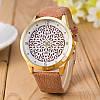 Часы Geneva pattern (beige) - гарантия 6 месяцев, фото 2