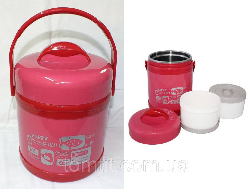 """Качественный детский термос, пищевой (1,5 л), цвет розовый, ТМ """"S&T"""""""