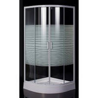 "Душевая кабина EGER TISZA AMUR 90*90*185 см, на мелком поддоне, профиль белый, стекло ""Frizеk"" (стекла+двери"