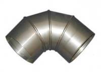 Колено для дымохода 90°, нерж., 200 мм (сталь 0,5 мм) AISI304