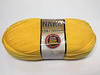 Пряжа nako pure wool - цвет желтый