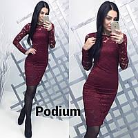 Женское стильное платье из набивного гипюра (2 цвета)