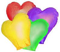 Небесные фонарики Сердце (разноцветные)