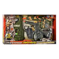 Детский Набор полиции 33480, жилет, маска, пистолет, бинокль, автомат трещотка, в кор-ке, 66-38-6см