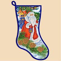 Заготовка на вышивку новогоднего сапожка СН-2003. ДЕД МОРОЗ