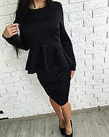 Платье женское с баской полубатал