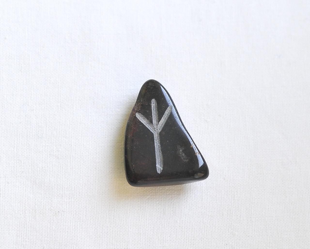 Альгиз (Algiz),руна амулет, камень – мгновение, жизнь и смерть, защита