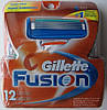 Картриджи Gillette Fusion, 12 Cartridges