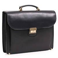 Кожаный мужской портфель РВМ-2 черный