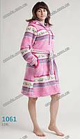 Махровый халат на молнии с капюшоном