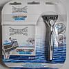Леза Wilkinson Sword Quattro Titanium Blades - 8 шт. + верстат Wilkinson Sword + підставка