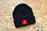 Молодежная шапка мужская джордан,Jordan черная