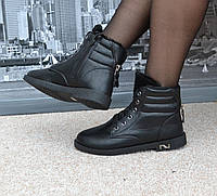 Ботиночки Черные, зима, остались размеры 37 и 39