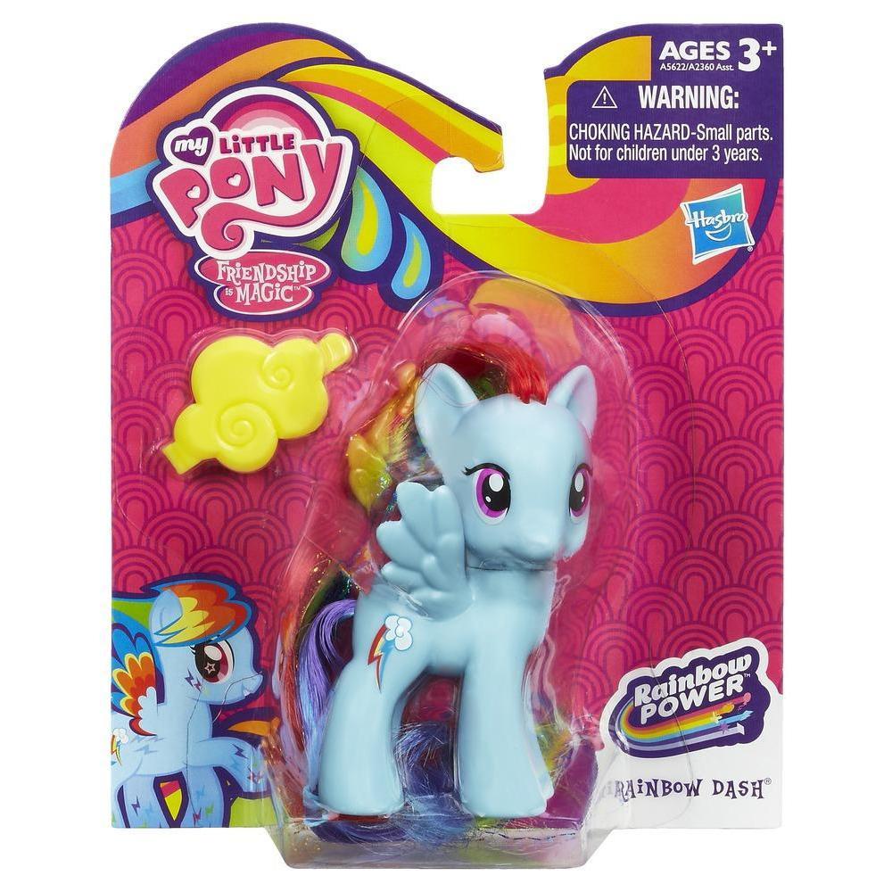 "Фигурка пони Рейнбоу Деш + тиара ""Радужная сила"" - Rainbow Dash, My Little Pony, Rainbow Power, Hasbro"